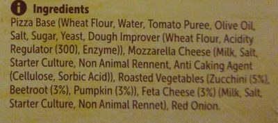 Roasted vegetables & feta - Ingredients