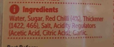 Sweet Chili Sauce - Ingredients - en