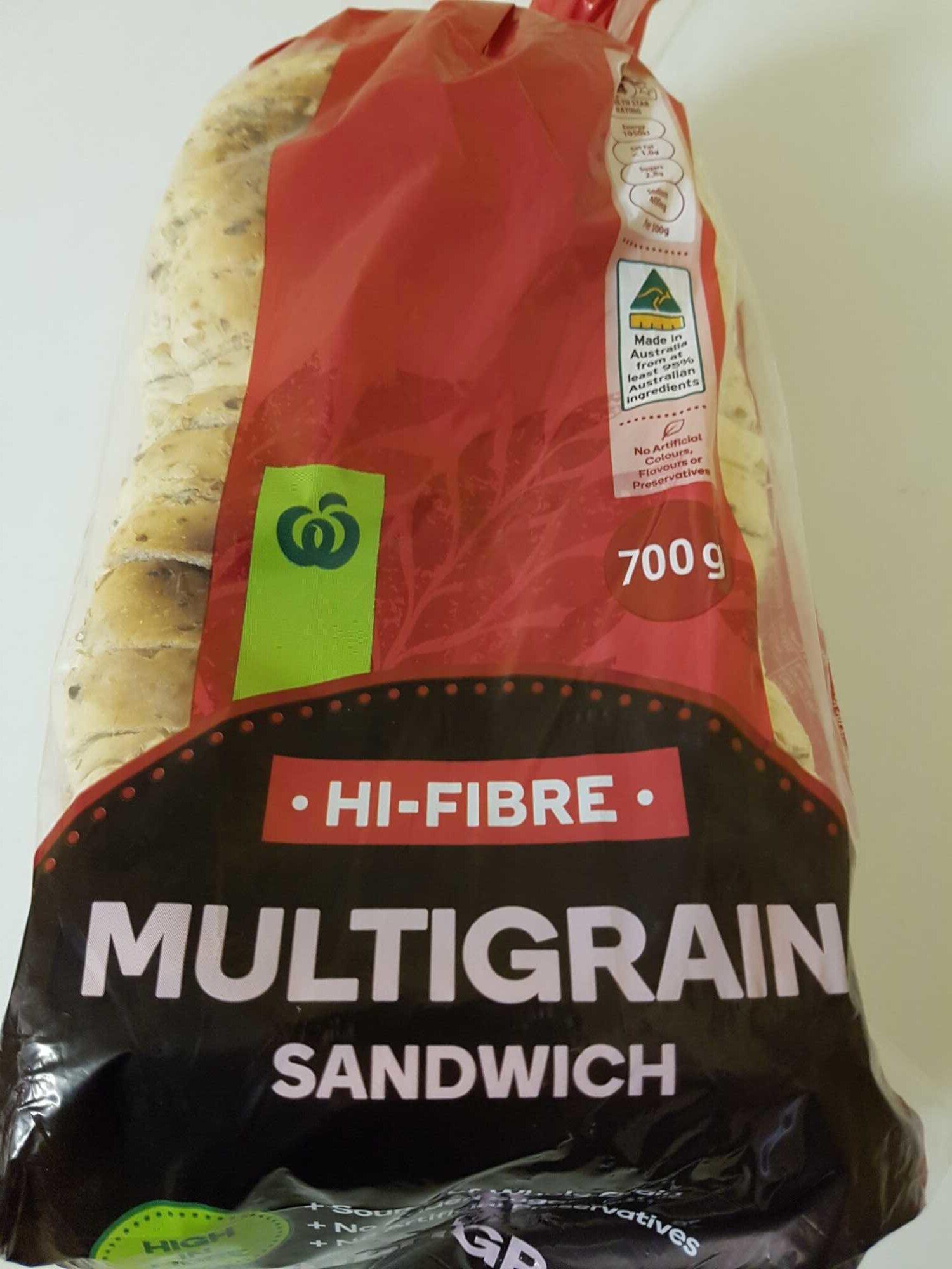 Hi-Fibre Multigrain Sandwich Bread - Produit - en