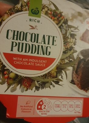 woolies chocolate pudding - Product - en