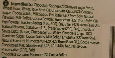 woolies chocolate pudding - Ingredients - en