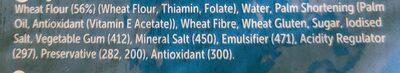 Soft White Wraps - Ingredients - en