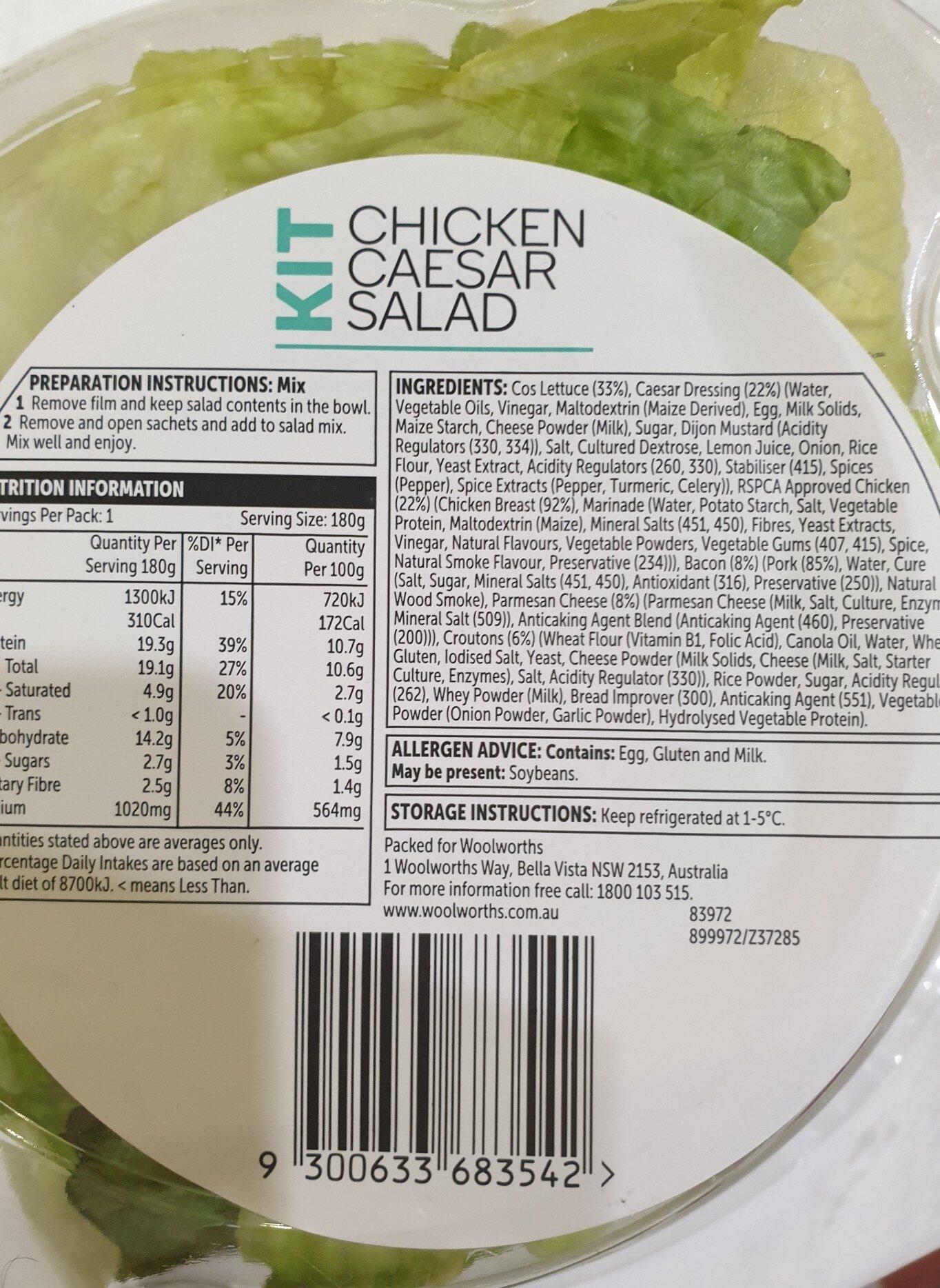 woolworths caesar salad - Ingredients - en