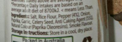 steak spice - Ingredients - en