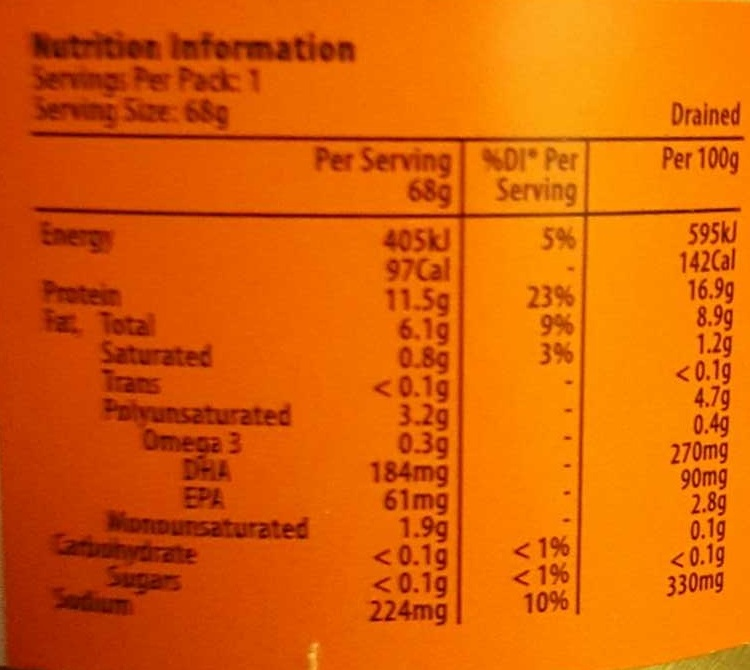 Woolworths Select Tuna Smoked - Nutrition facts