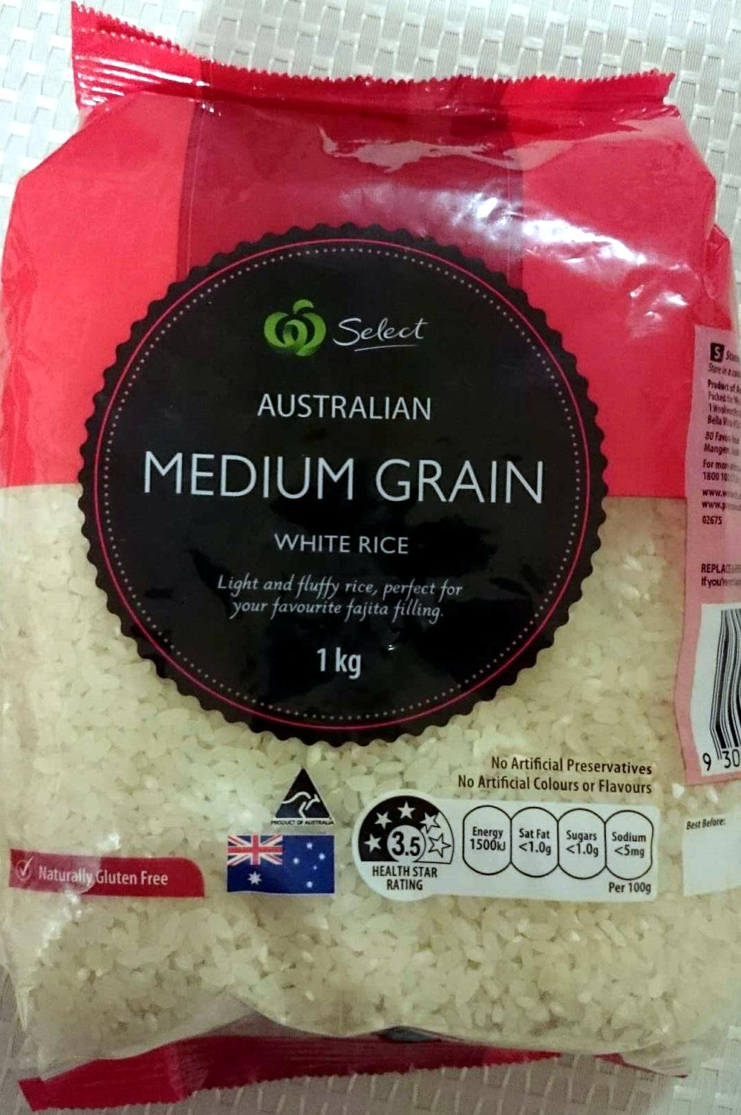 Australian Medium Grain White Rice - Product - en