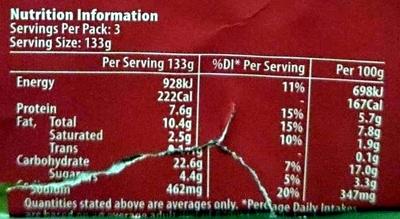 Tomato Couscous - Nutrition facts - en