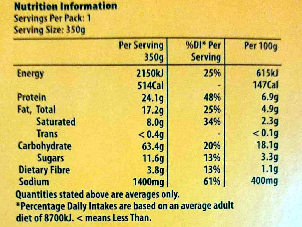 Chicken Tikka Masala with Basmati Rice - Nutrition facts - en
