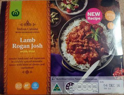 Lamb Rogan Josh with Rice - Product - en