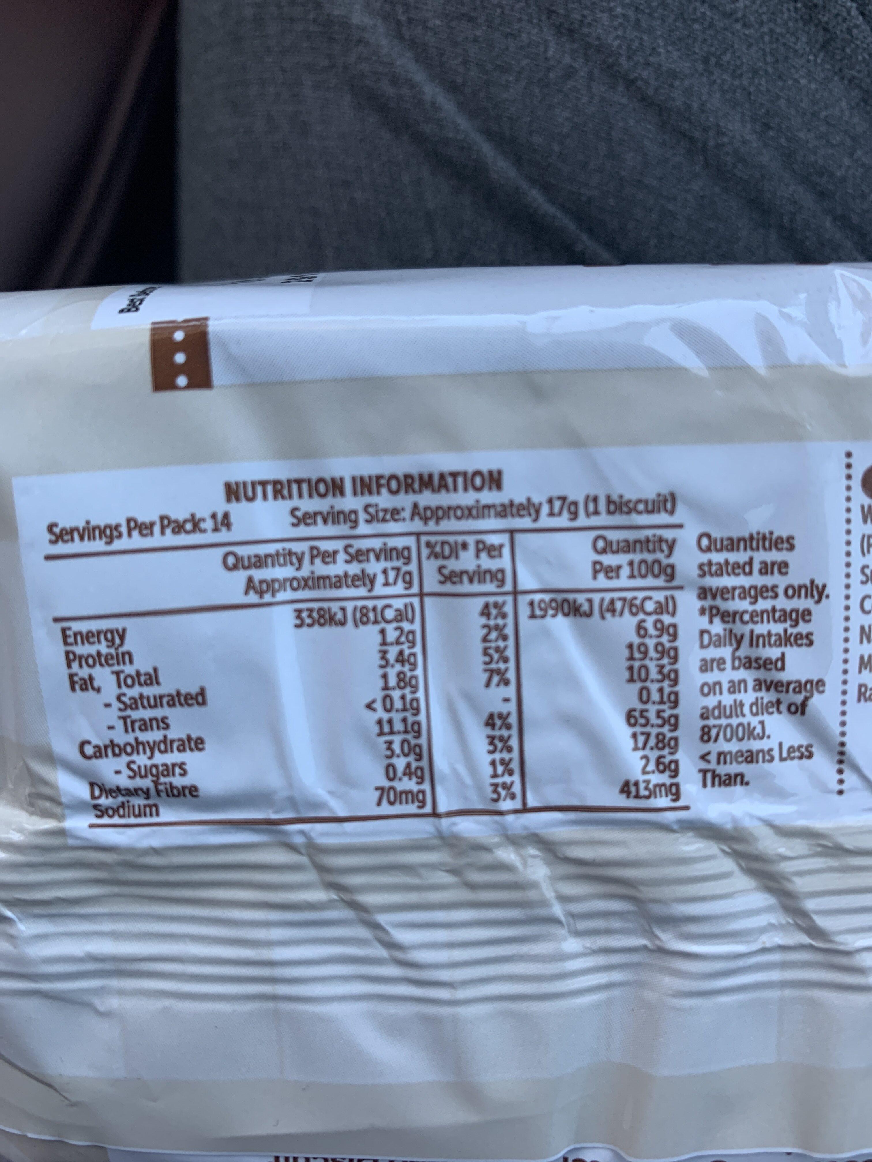 Scotch Finger - Nutrition facts - en