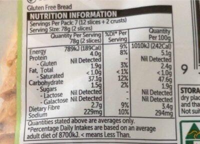 Seeds and grains - Informations nutritionnelles - en