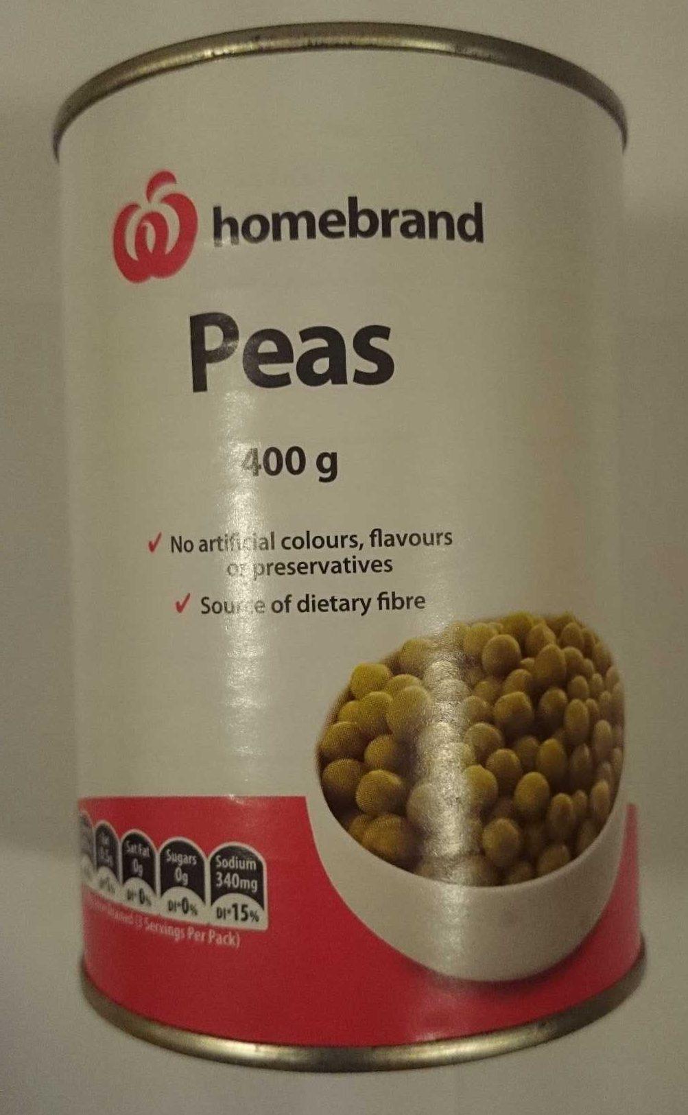 Homebrand Peas - Product - en