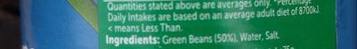 Haricots verts en morceaux - Ingredients