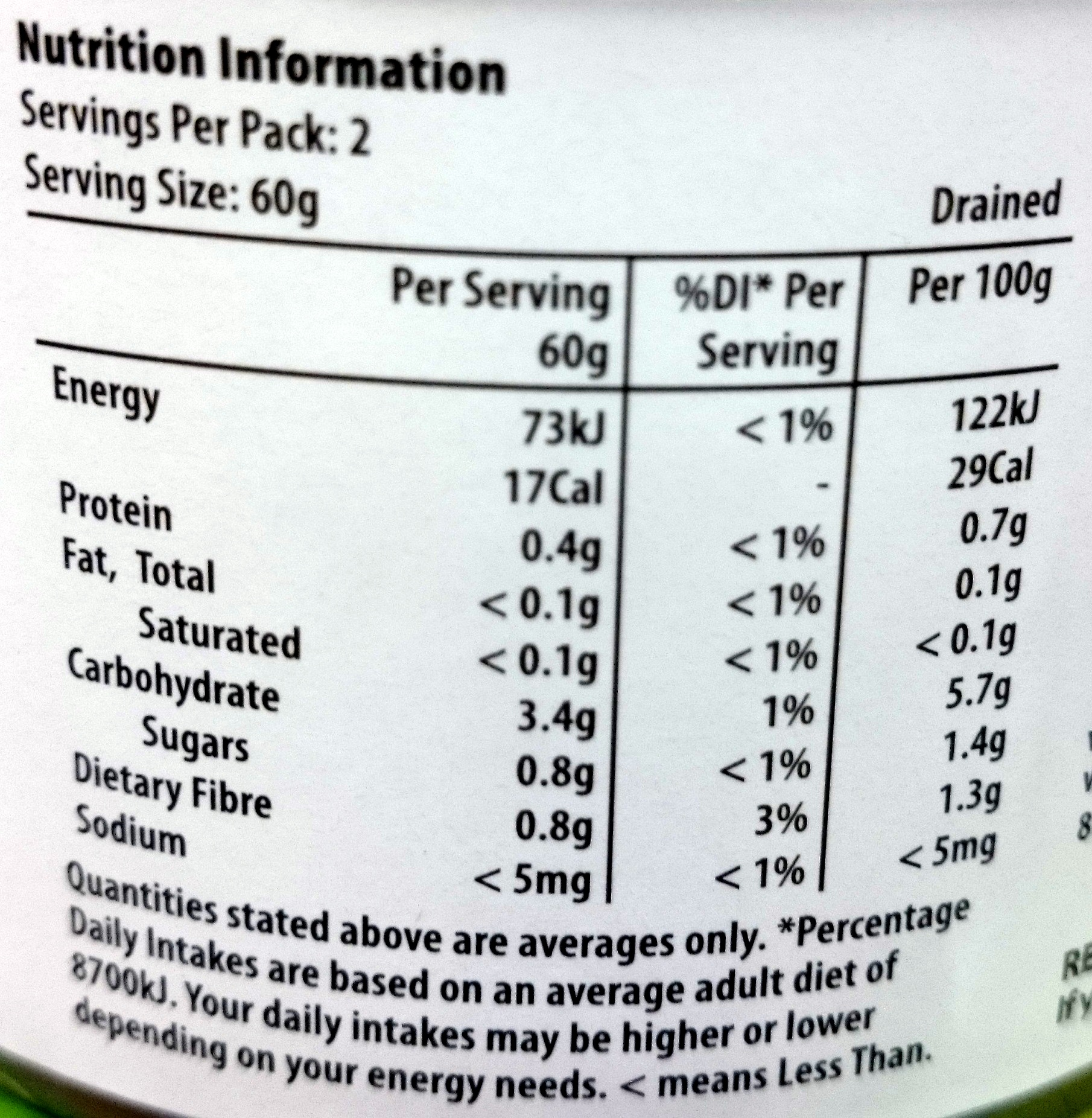 Homebrand Water Chestnuts - Nutrition facts - en