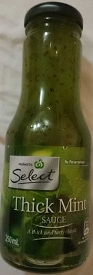 Woolworths Select Thick Mint Sauce - Product