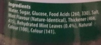 Woolworths Select Thick Mint Sauce - Ingredients