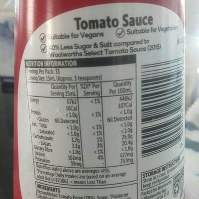 Tomato Sauce - Ingrédients - en