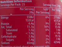 Crunchy Peanut Butter - Nutrition facts