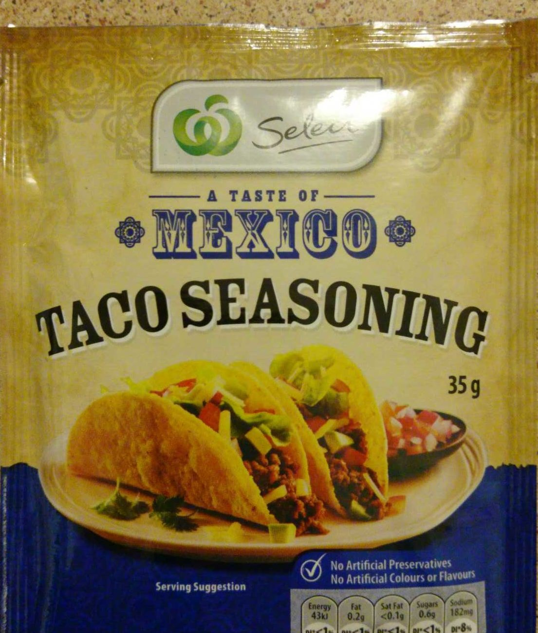 A Taste of Mexico Taco seasoning - Product