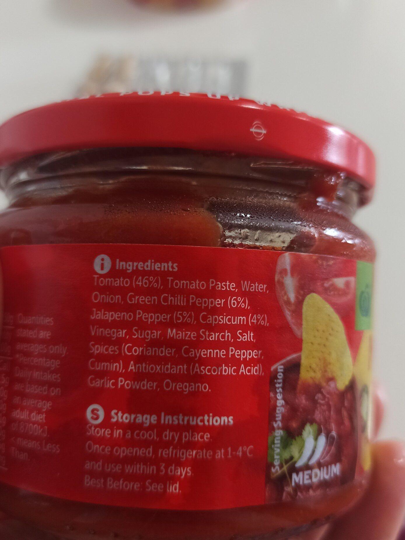 Woolworths Brand Chunky Tomato Medium Salsa - Ingredients - en