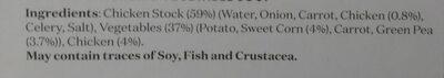 Creamy Chicken & Vegetable Soup - Ingredients - en
