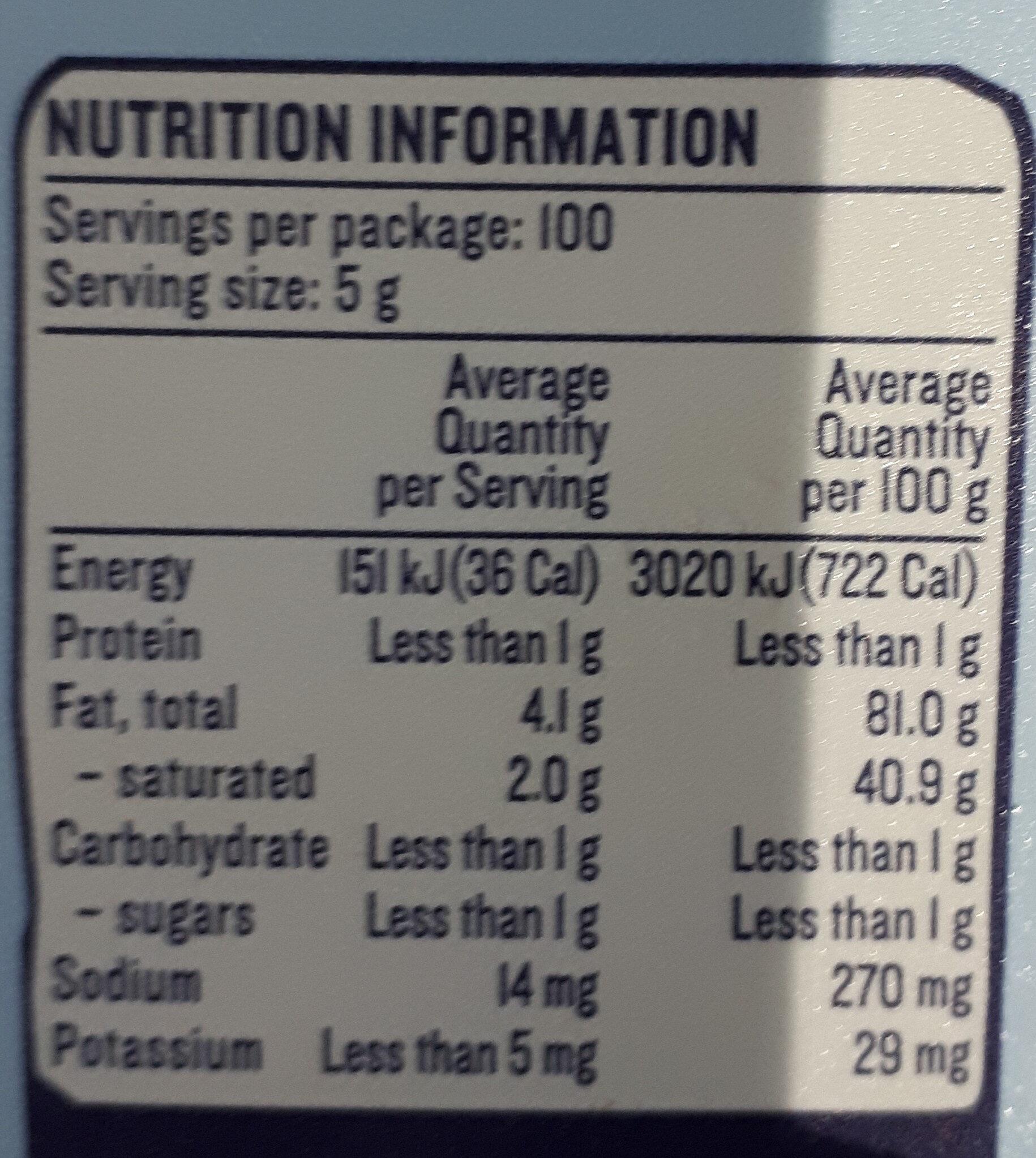 Our Dairy Soft Salt Reduced Butter - Nutrition facts - en