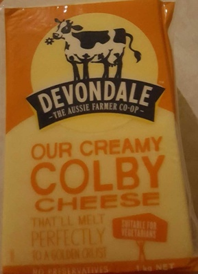 Devondale Our Creamy Colby Cheese - Product - en