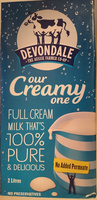 Devondale Full Cream Milk Longlife - Product - en
