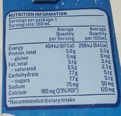 Devondale our creamy one - Nutrition facts