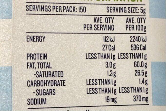 Soft butter - Nutrition facts - en