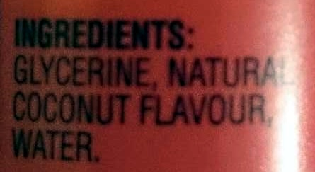Queen Natural Coconut Flavouring Essence - Ingredients