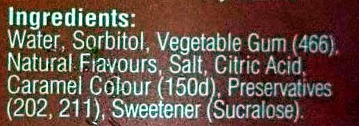 Maple sirup - Ingredients - en