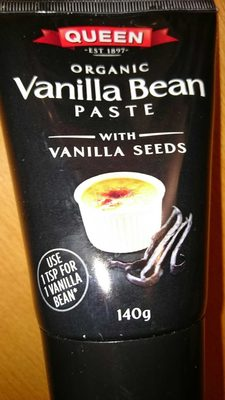organic vanilla bean paste with vanilla seeds - Product