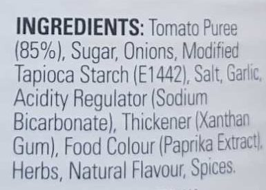Condensed Tomato Soup - Ingredients