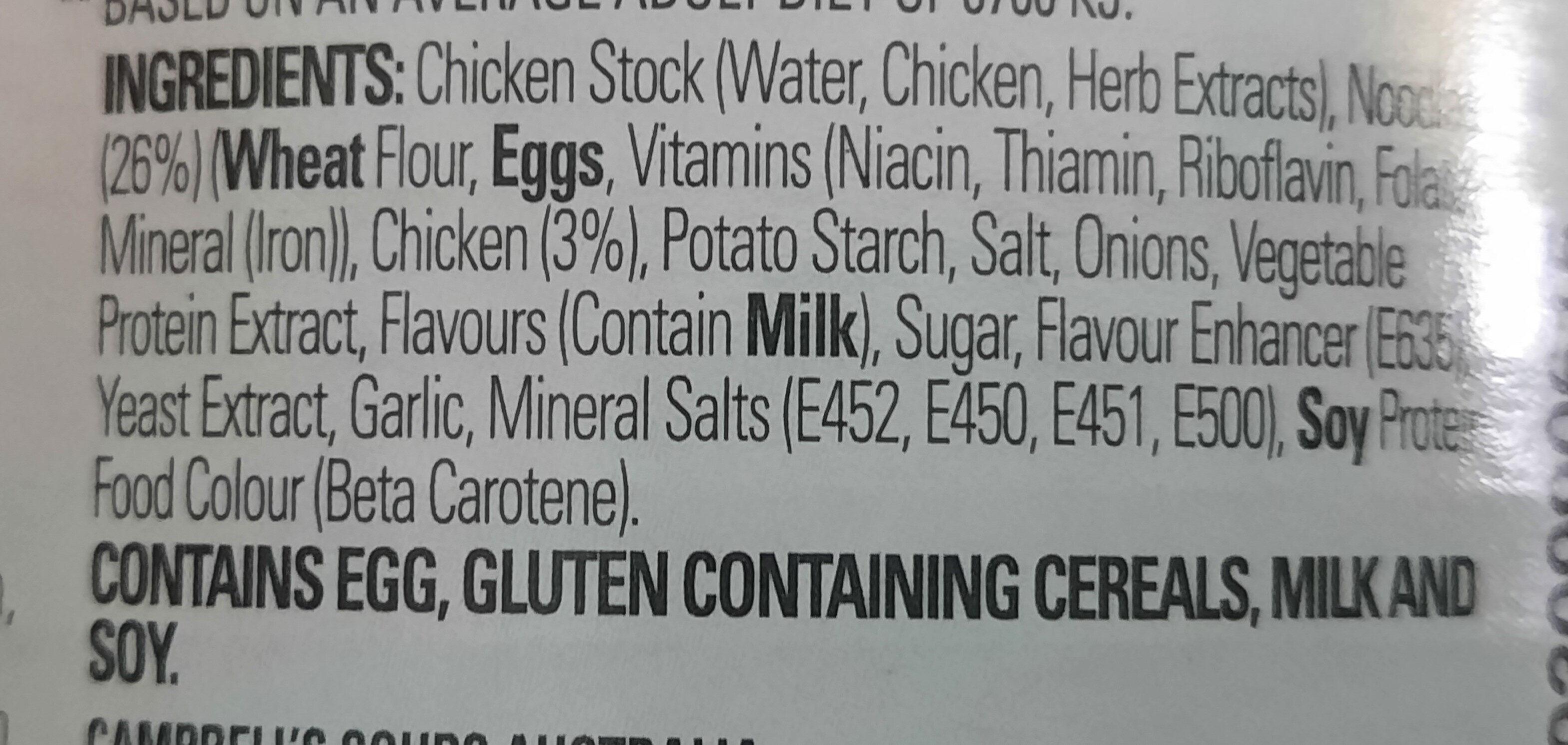 Condensed Chicken Noodle Soup - Ingredienti - en