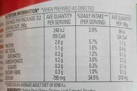 Condensed Chicken Noodle Soup - Valori nutrizionali - en