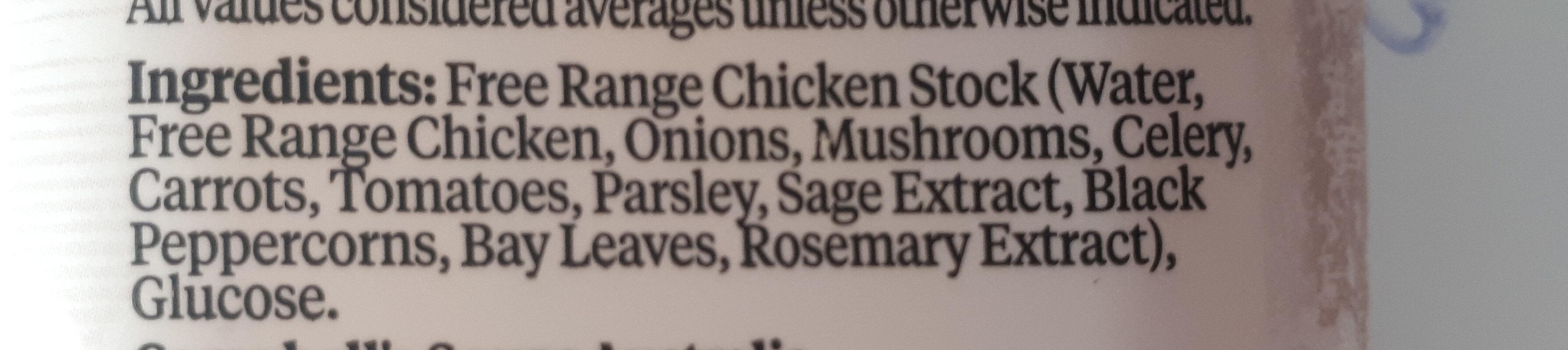 Free Range Chicken Stock - Ingredients