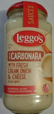 Leggo's Carbonara with Fresh Cream, Onion and Cheese Pasta Sauce - Product