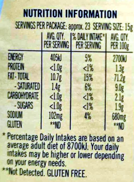 Free Range Egg Mayonaise - Nutrition facts - en