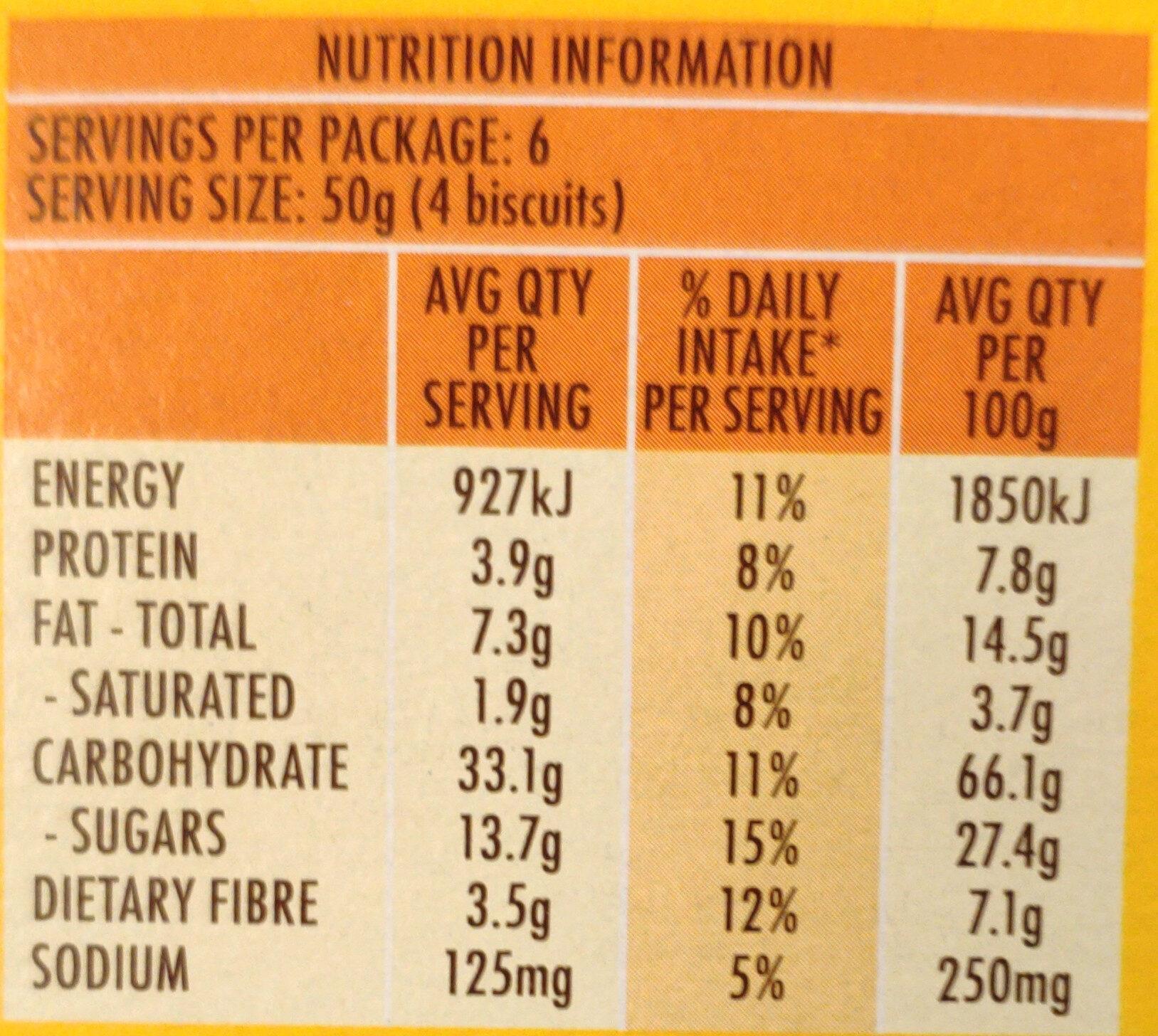 Chocolate Breakfast Biscuits - Nutrition facts - en
