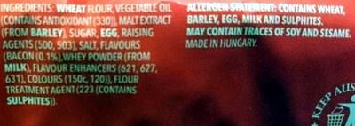 Ritz Snackz Smoky Bacon Flavour - Ingredients