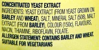 Vegemite - Ingredients - en