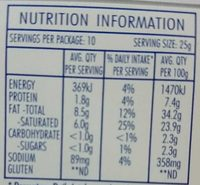 All Natural Cream Cheese Original Block - Informations nutritionnelles - en