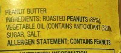 Smooth Peanut Butter 500G - Ingredients - fr