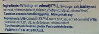 Weet-bix - Ingredients