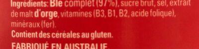 Weet-bix - Ingrédients