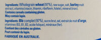 Weet-bix - Ingredients - en