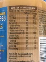 Smooth peanut butter - Valori nutrizionali - fr