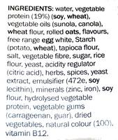 Vegie Delights Tender Crumbed Schnitzel - Ingredients