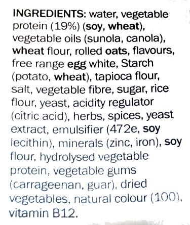 Vegie Delights Tender Crumbed Schnitzel - Ingredients - en